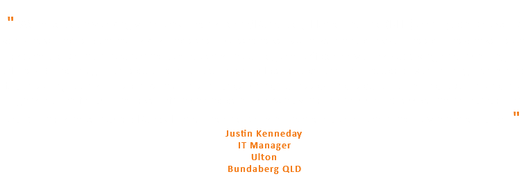 """ We have been working with Tony and his team/Bundaberg Home Theatre (BHT) on projects for over 7 years now and rely on their skills and expertise whenever we have an audio visual need. They have been responsible for the fit out of the boardrooms in our regional offices as well as supplying and installing all of the AV and integration equipment for our latest office renovation that included two training rooms and four meeting rooms. They take the time to understand our needs and requirements and recommend the right solution for us. The level of finish and detail shown by the team is so impressive that a number of our partners have trusted Bundy Home Theatre to install home automation in their own home builds. "" Justin Kenneday IT Manager Ulton Bundaberg QLD"